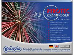 PYROTEC COMPOSER - Startbildschirm
