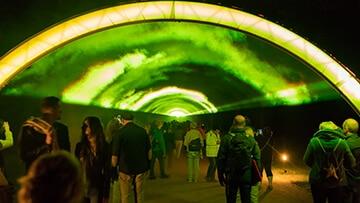 Potsdamer Schlössernacht 2017 Lasertunnel