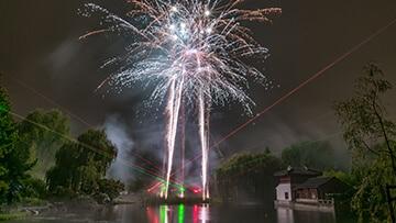 Chinesisches Mondfest 2017 Feuerwerk